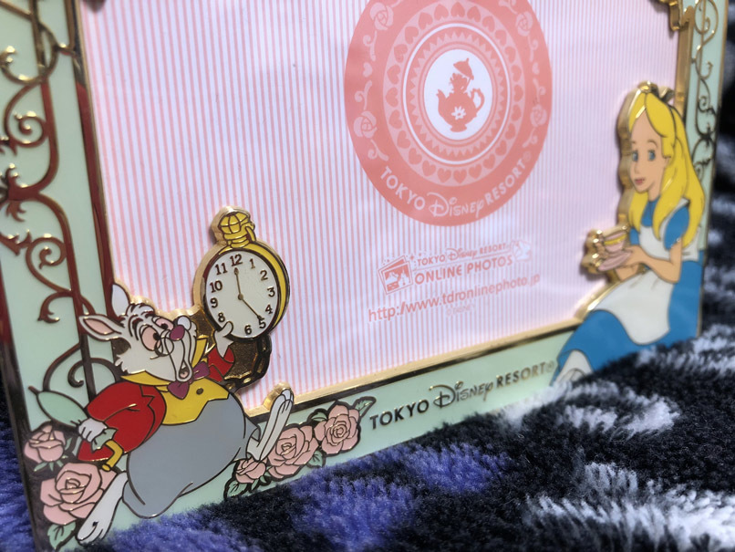 不思議の国のアリス フォトスタンド・写真立て・フォトフレーム TDL 限定 ふしぎの国のアリス 時計うさぎ_画像3