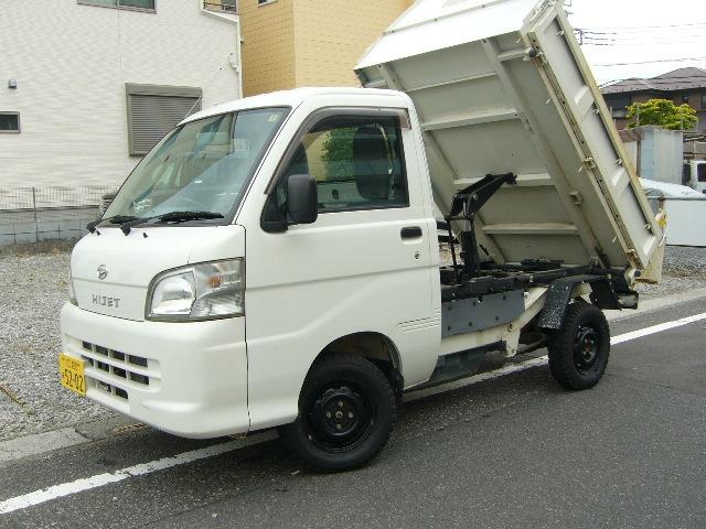 1円~ ハイゼットダンプ H24 31000km 検32/8月 ②オーナー PTO 極東 多目的 エアコン 4WD PS AC_画像2