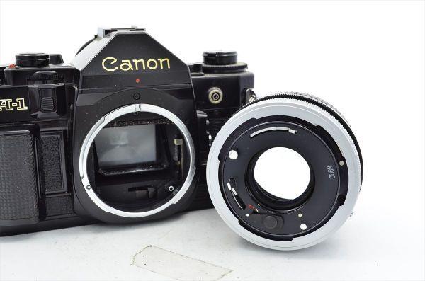 109 Canon キヤノン A-1 + FD 50mm F1.8 S.C 一眼レフカメラ フィルムカメラ_画像5