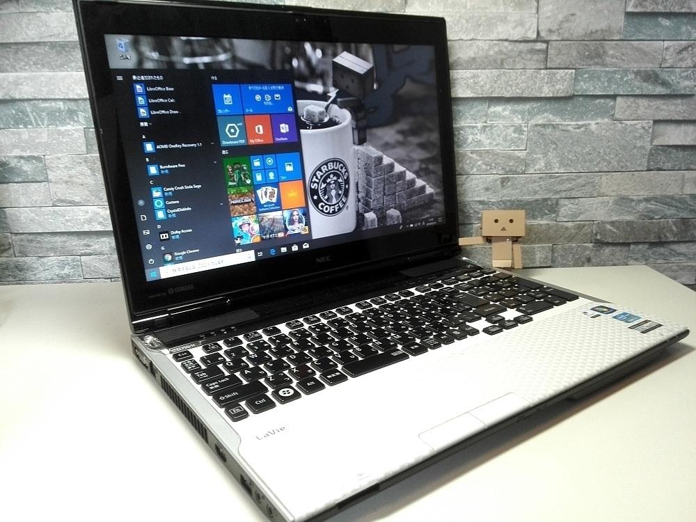 Win10最新Ver☆NEC LaVie LL750/H Core i7-3610QM 新品SSD480GBで爆速&大容量♪ メモリ8GB Office ブルーレイ Wi-Fi YAMAHAサウンド♪