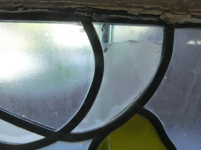 4S-058 ステンドグラス 鳥/英国アンティーク/イギリス_画像6