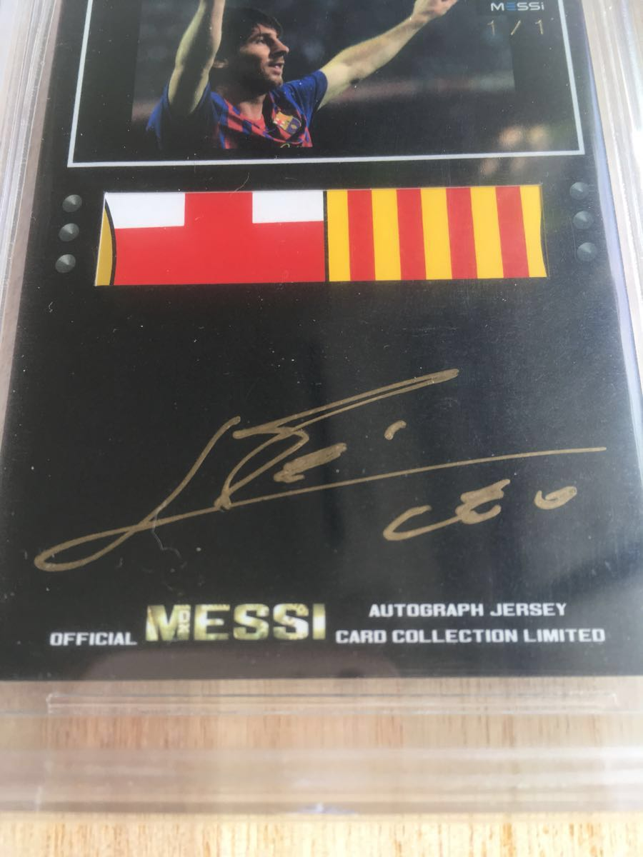 2013 Icons Official Messi Card Collection MESSI AUTO LOGO PATCH 1/1 メッシ 実使用バルセロナジャージロゴ サイン_画像2