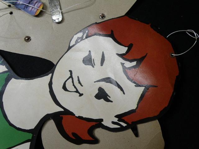 23 マルキン醤油 吊り下げ ハンガー 広告 / 昭和レトロ ディスプレイ 看板 当時物 古い 昔 _画像7