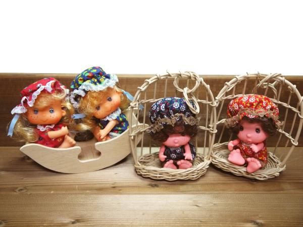 当時物 昭和レトロ ソフビ人形 4個 ブランコ ビンテージ 古い おもちゃ 玩具 レトロ人形 コレクション 年代物 ヴィンテージ 希少 レア_画像1