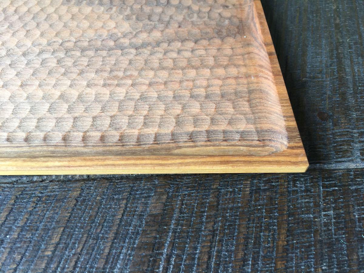 レア 新品 小沢賢一 トレー カッティングボード 木工 作家 出産祝い 北欧 チーク 無垢 カフェ アウトドア ハンドメイド セール_画像3