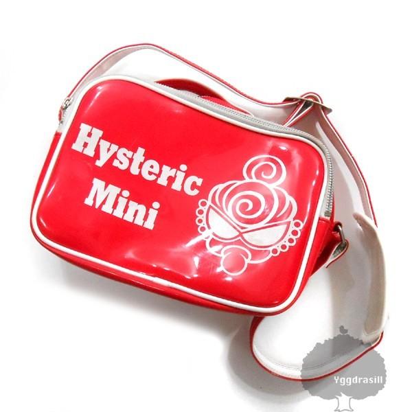YGG■HYSTERIC MINI ヒステリックミニ ヒスミニ 斜めがけ バッグ 赤 エナメル キッズ 鞄 カバン レッド_画像1
