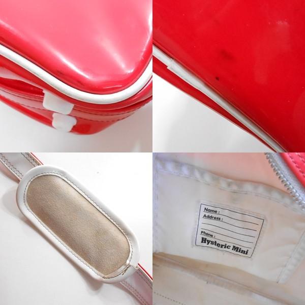 YGG■HYSTERIC MINI ヒステリックミニ ヒスミニ 斜めがけ バッグ 赤 エナメル キッズ 鞄 カバン レッド_画像2