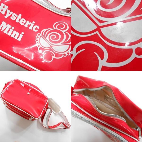 YGG■HYSTERIC MINI ヒステリックミニ ヒスミニ 斜めがけ バッグ 赤 エナメル キッズ 鞄 カバン レッド_画像3