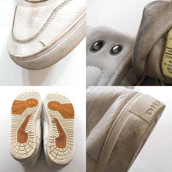 YGG★DIESEL ディーゼル レザー ハイカット スニーカー 白 US9 シューズ 靴 メンズ 27cm ホワイト_画像2