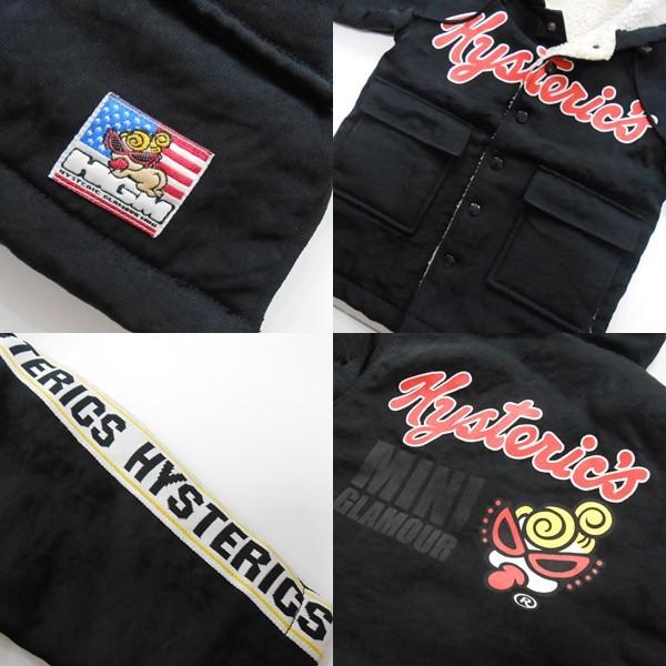 YGG★ヒステリックミニ ボア コート ジャケット 黒 95 ヒスミニ hysteric mini アウター 子供服 キッズ ブラック_画像3