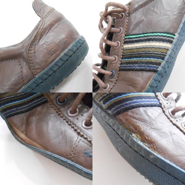 YGG★ポールスミス Paulsmith スニーカー 茶 ライン入り シューズ メンズ 27cm程度 ブラウン 靴 カジュアルOK_画像3