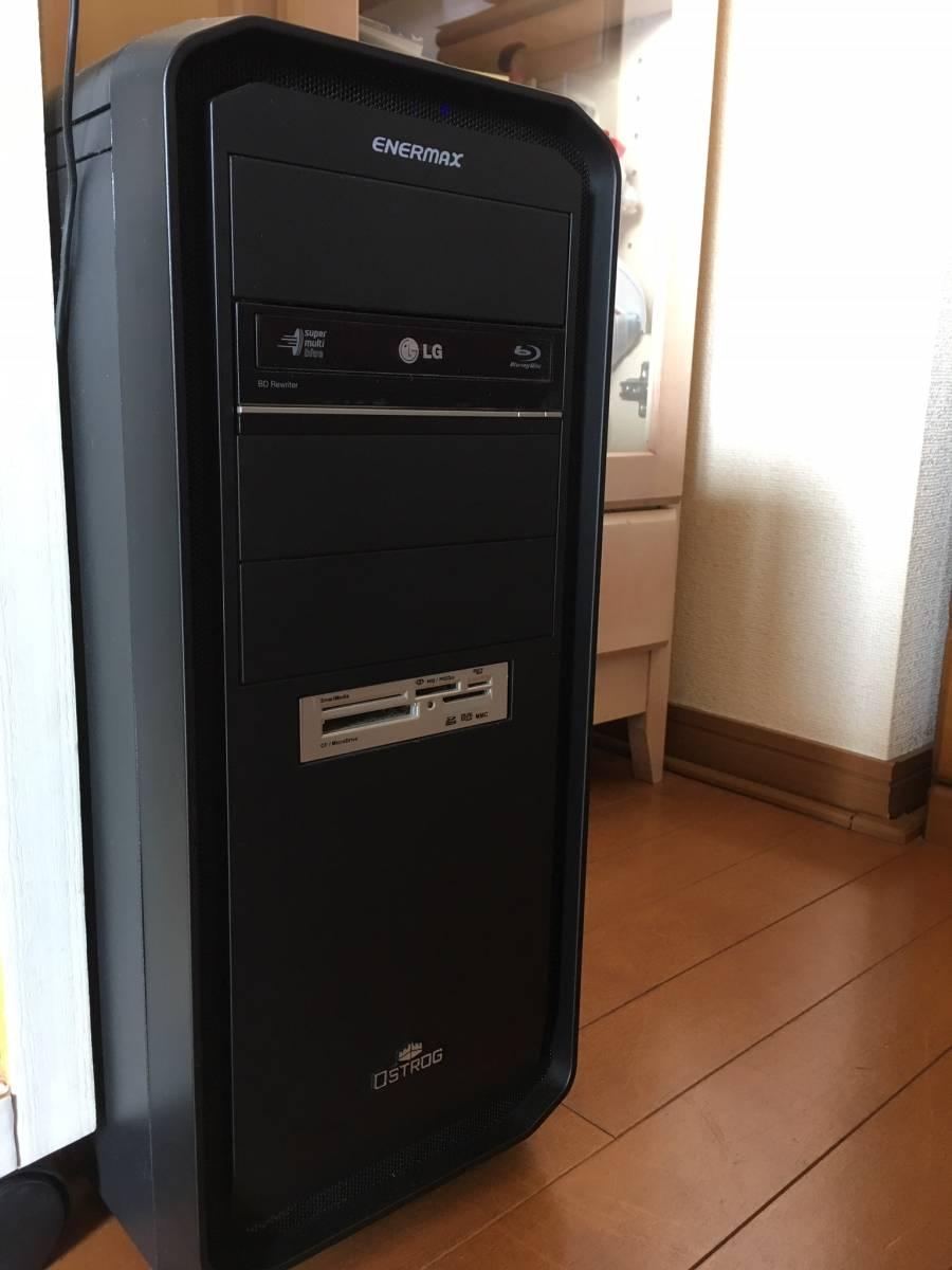 自作 Core i7 3770 メモリ16GB SSD120GB HDD2基合計1.5TB ブルーレイ GTX680 Win10Pro 64ビット認証済み 一部難あり 通常動作品_画像3