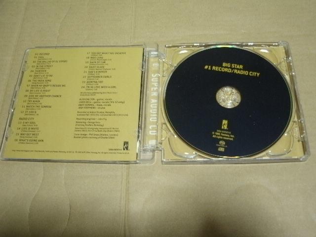 ゴールドCD仕様 廃盤■輸入盤 高音質HYBRID SACD■BIG STAR/#1RECORD/RADIO CITY/2IN1 アレックスチルトン ビッグスター_画像3