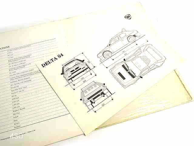Lancia DELTA S4カタログ海外版★中古品★0521_画像5