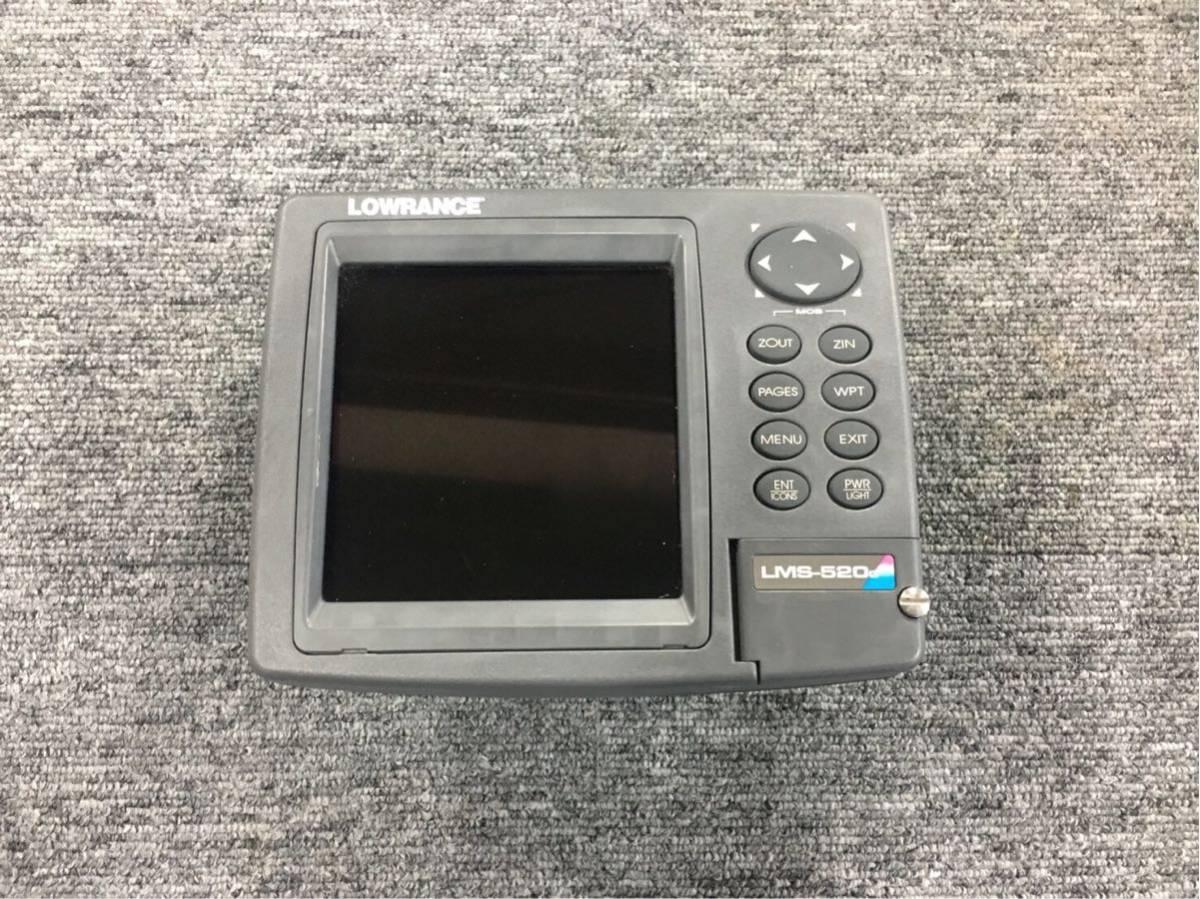 「LOWRANCE ローランス 520c GPSアンテナ 振動子 セット 琵琶湖地図カードポイント記録SDカード付き 架台付き」の画像1