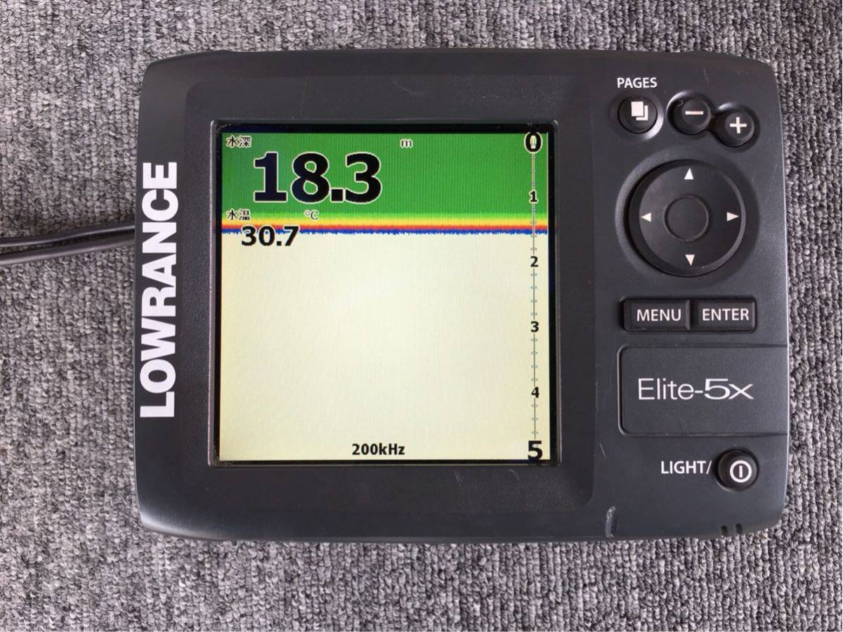 「LOWRANCE ローランス エリート5x ELITE5x」の画像1