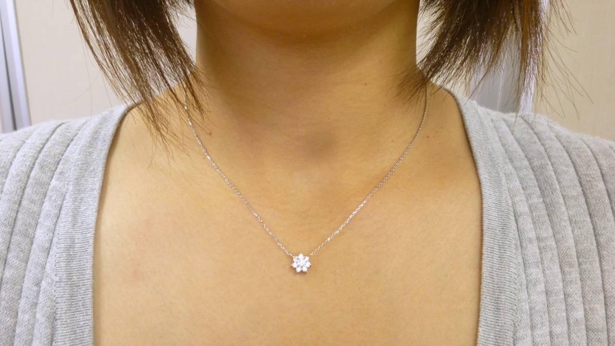 40cm pt850 ダイヤモンド ネックレス 0.33ct プラチナ ダイヤ pt900 0.3ct _画像1