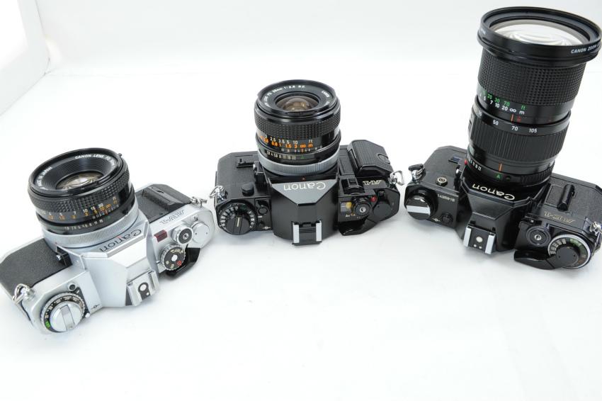 【ecoま】キャノン CANON AV-1/A-1/AE-1 一眼レフカメラ・レンズセット3台まとめて ジャンク_画像4
