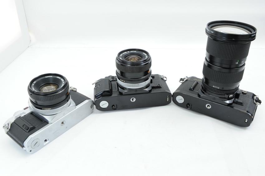【ecoま】キャノン CANON AV-1/A-1/AE-1 一眼レフカメラ・レンズセット3台まとめて ジャンク_画像3