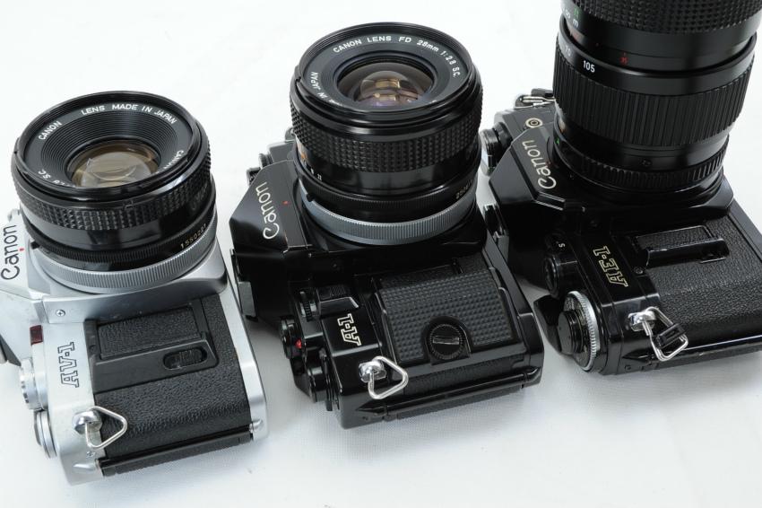 【ecoま】キャノン CANON AV-1/A-1/AE-1 一眼レフカメラ・レンズセット3台まとめて ジャンク_画像5