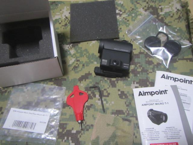 実物 AIMPOINT MICRO T-1 4MOA ADM AD-T1 SET