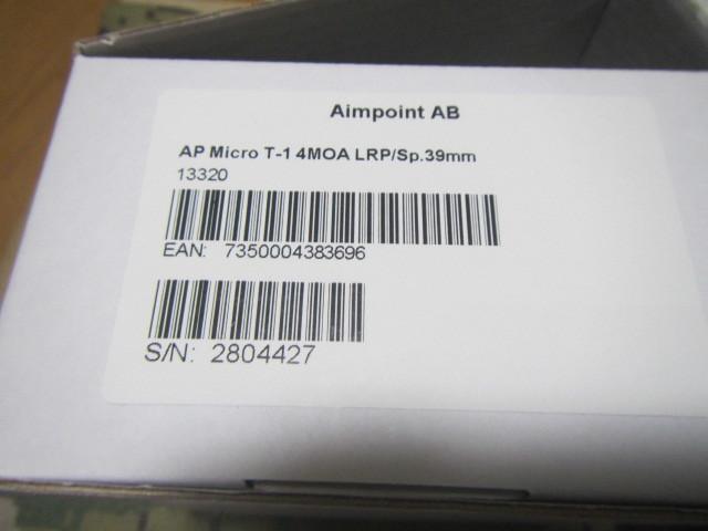 実物 AIMPOINT MICRO T-1 4MOA ADM AD-T1 SET _画像9