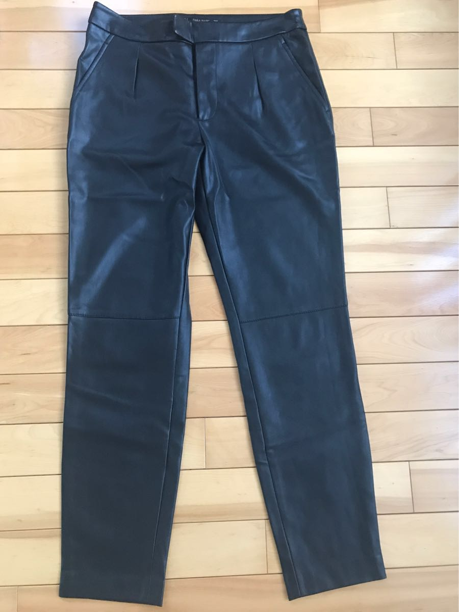 fa0ee46fc3 ZARA* men's imitation leather leather pants S size black used: Real ...