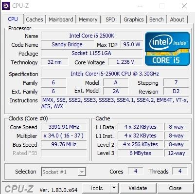 自作PC★Corei5-2500K 3.3~3.7GHz O/C可 Win10Pro★SSD 240GB/メモリ 8G★HDD 1TB/グラフィック GTX650Ti_画像7
