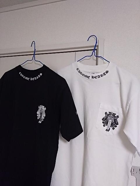 クロムハーツ東京 半袖Tシャツ2枚◆白と黒 超美品 正真正銘本物 タグ確認◆送料無料_画像3