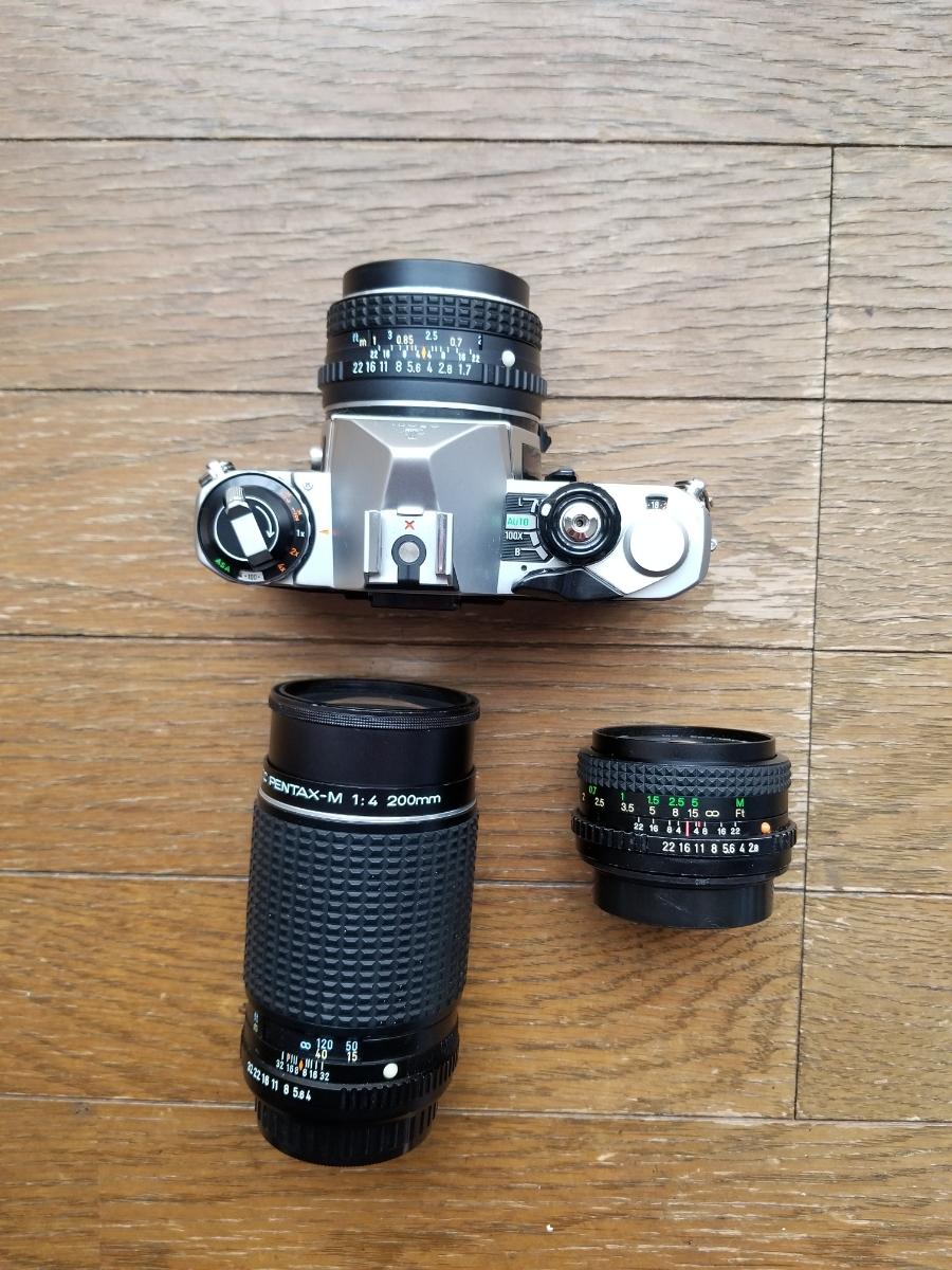 ペンタックスカメラ、レンズ付きシャッター作動、ジャンク扱い_画像2