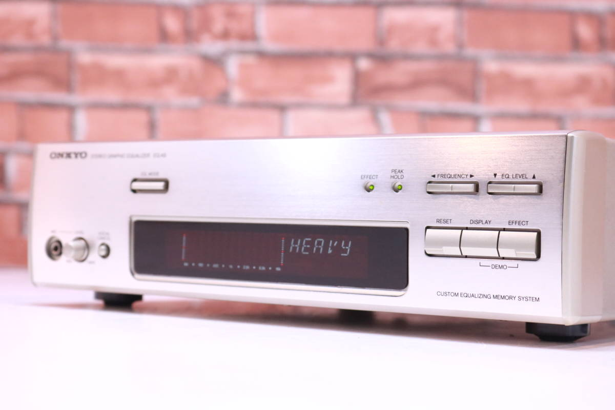 retro!! ONKYO stereo graphic equalizer EQ-A5 1996 year made