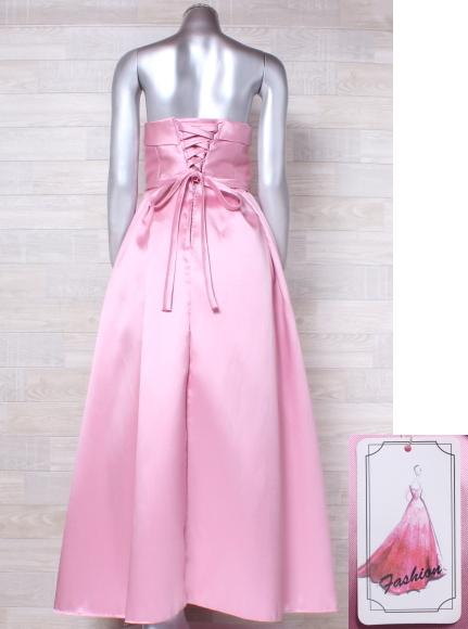 ベアトップドレス 大きいサイズ カラードレス パーティードレス ウエディングドレス 編み上げ 発表会 お呼ばれ 二次会 結婚式_画像3