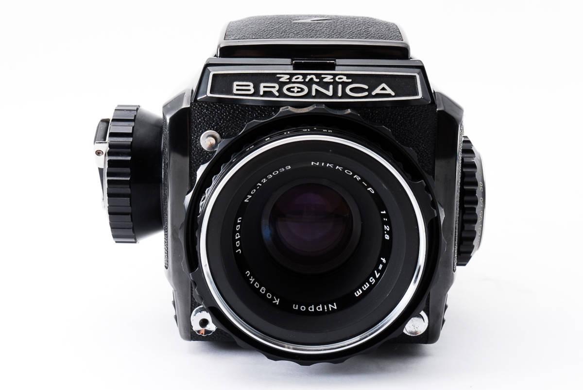 #298228 Zenzabronica ゼンザブロニカ S2 中判カメラ f/2.8 75mm /キャップ付き_画像2