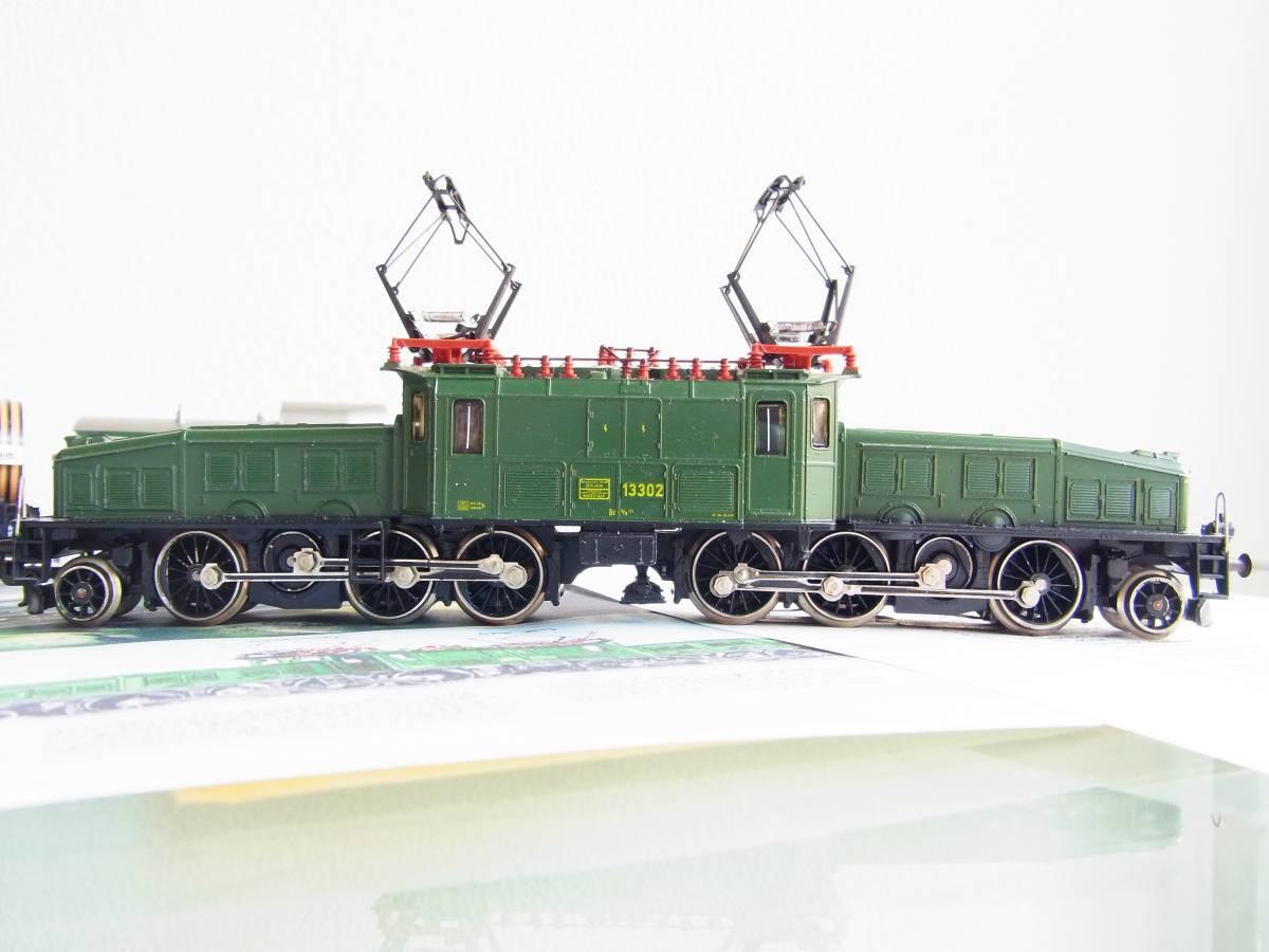 """Marklin・メルクリン#3056 SBB Be 6/8 """"Crocodile""""・クロコダイル電気機関車とサービス品貨車2台(完動・良品!)_画像4"""