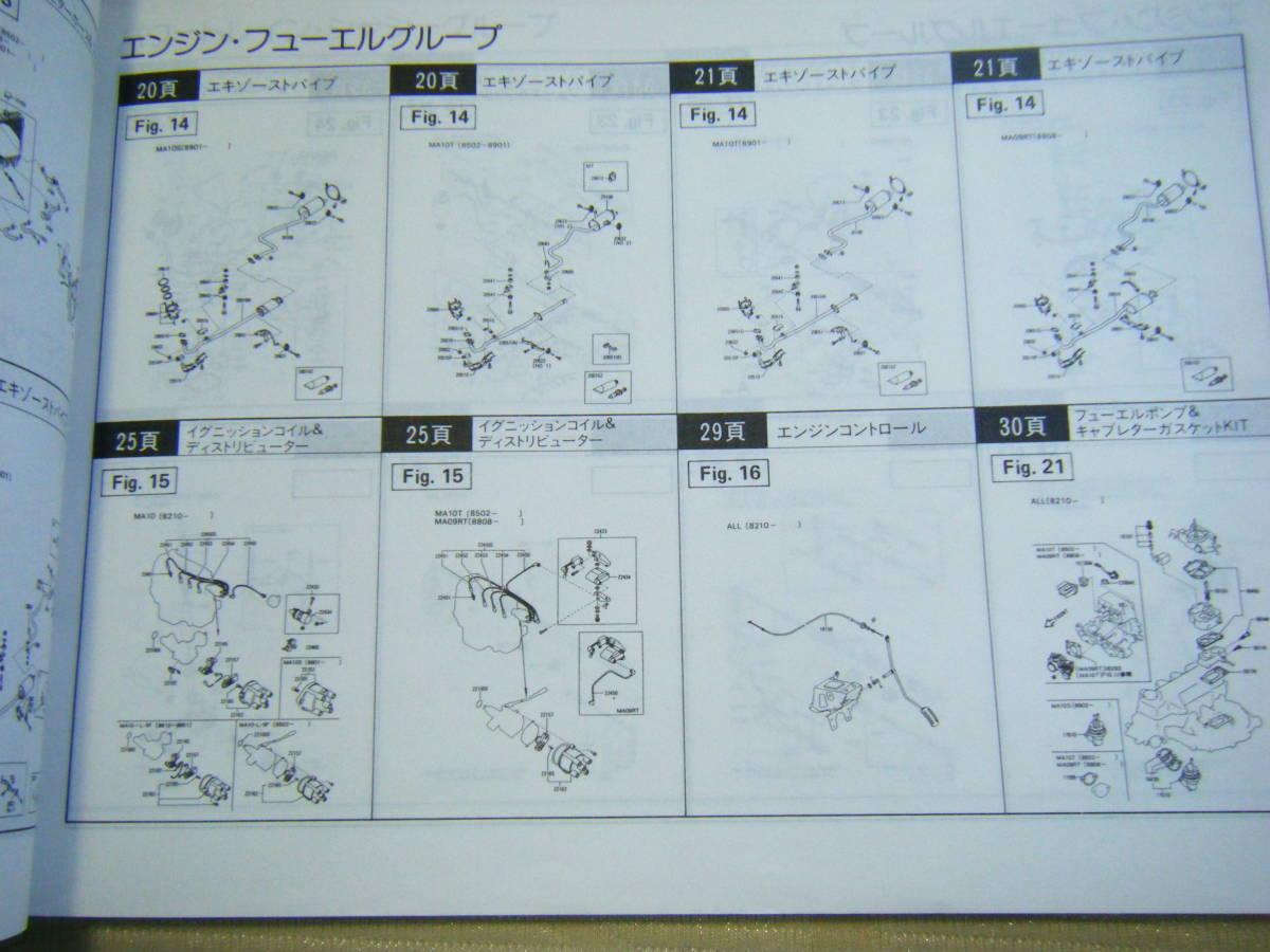♪送料 185円 ニッサン マーチ K10型シリーズ 82年~(昭和57年~) 主要整備部品カタログ_画像6