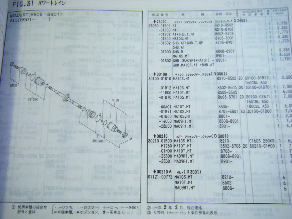 ♪送料 164円 ニッサン マーチ K10型シリーズ 82年~(昭和57年~) 主要整備部品カタログ_画像7