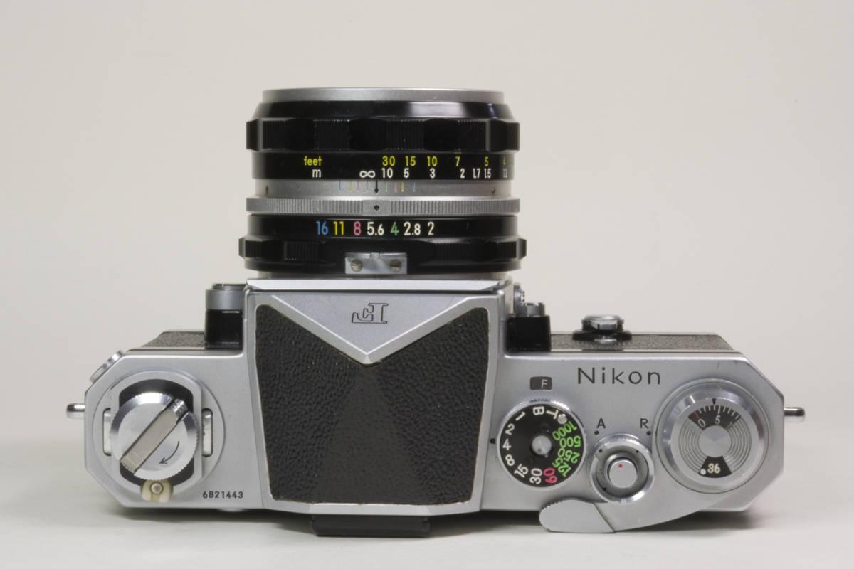 ニコンF アイレベル シルバー  Nikkor-H 50mm F1:2.0 動作確認品(これは美品です)_画像3