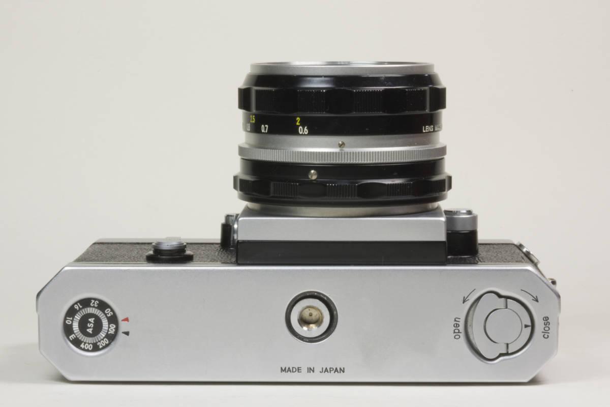 ニコンF アイレベル シルバー  Nikkor-H 50mm F1:2.0 動作確認品(これは美品です)_画像5