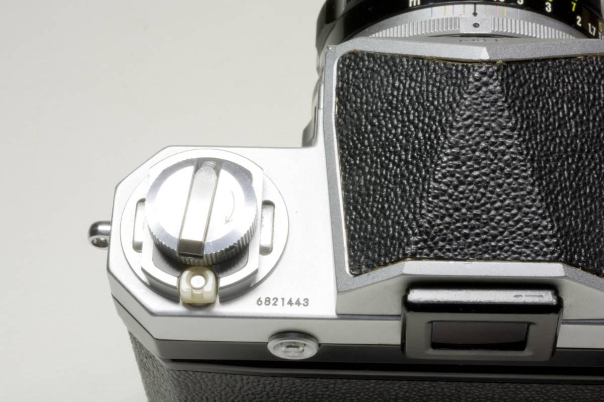 ニコンF アイレベル シルバー  Nikkor-H 50mm F1:2.0 動作確認品(これは美品です)_画像8