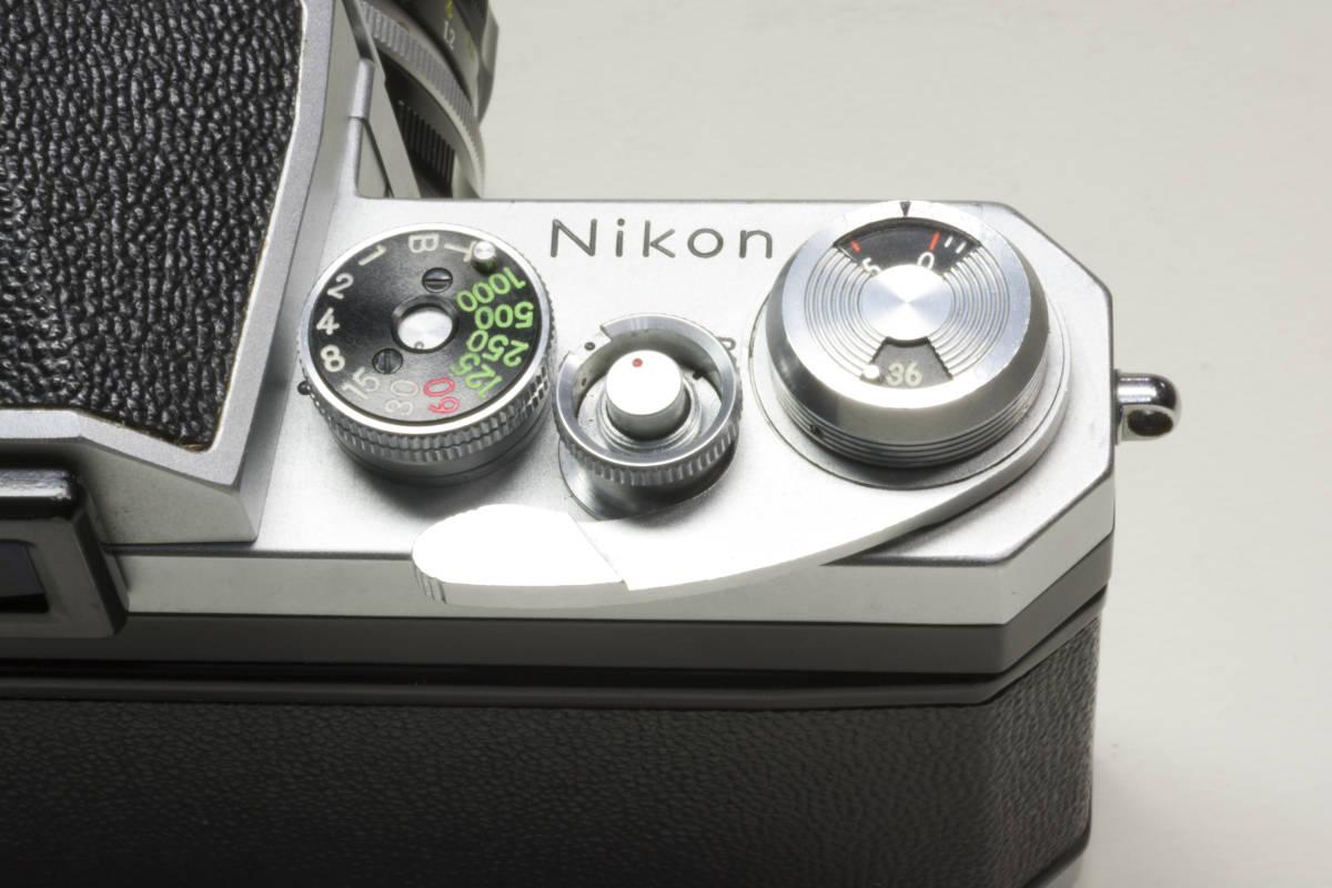 ニコンF アイレベル シルバー  Nikkor-H 50mm F1:2.0 動作確認品(これは美品です)_画像9