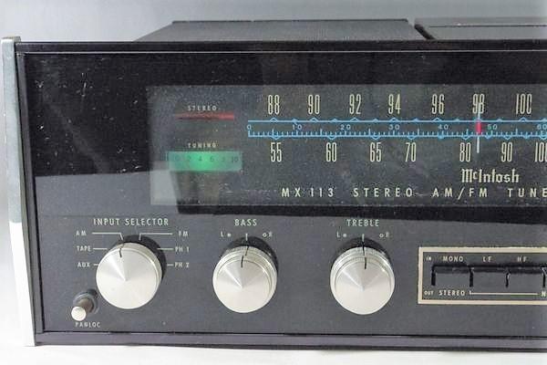 i15◆McIntosh マッキントッシュ MX113 ステレオチューナー プリアンプ ※通電のみ確認 ジャンク /アンプ 送:100_画像2