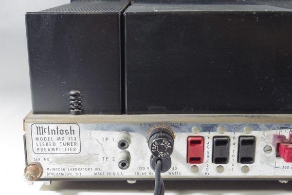 i15◆McIntosh マッキントッシュ MX113 ステレオチューナー プリアンプ ※通電のみ確認 ジャンク /アンプ 送:100_画像10