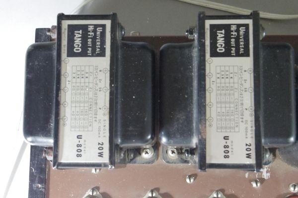N29◆自作 真空管アンプ/TANGO,タンゴトランス U-808 2台/SANSUI/サンスイ P-44B/LUX/ラックス 4BC 1.3/チョークコイル 送:100_画像2