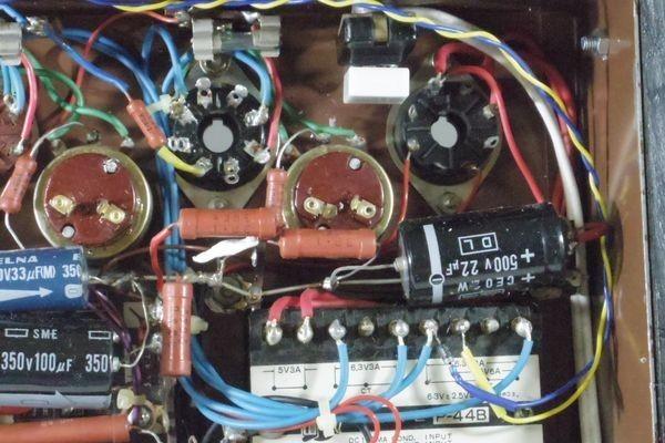 N29◆自作 真空管アンプ/TANGO,タンゴトランス U-808 2台/SANSUI/サンスイ P-44B/LUX/ラックス 4BC 1.3/チョークコイル 送:100_画像10