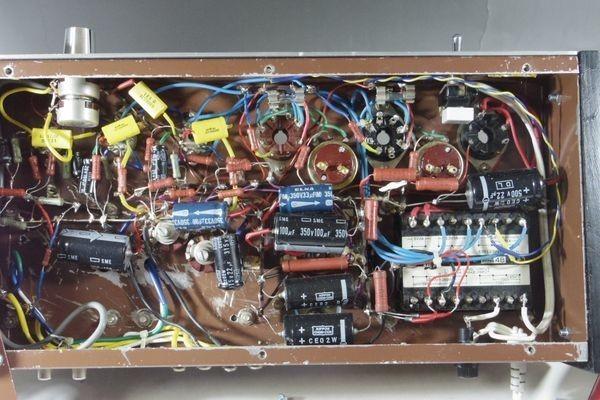 N29◆自作 真空管アンプ/TANGO,タンゴトランス U-808 2台/SANSUI/サンスイ P-44B/LUX/ラックス 4BC 1.3/チョークコイル 送:100_画像7