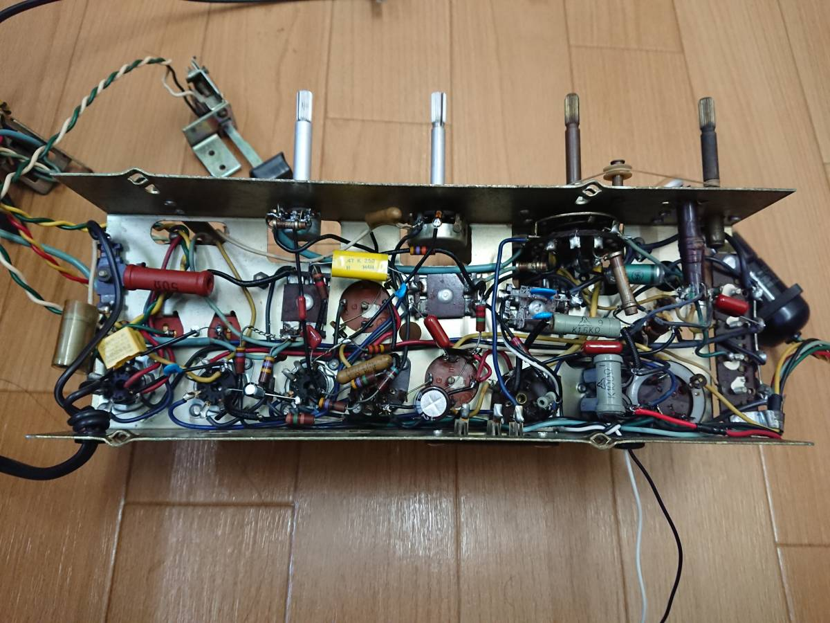 【整備済】 ナショナル 2スピーカー 真空管ラジオ GM-520 マジックアイ●受信様子動画有り●_画像8