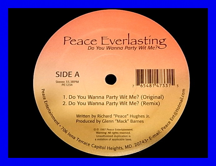 peace everlasting do you wanna party wit me ヤフオク