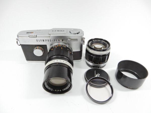 OLYMPUS オリンパス PEN-FT E.Zuiko Auto-T 1:3.5 f=100mm G.ZUIKO Auto-S 1:1.4 f=40mm レンズ2個付 一眼レフカメラ