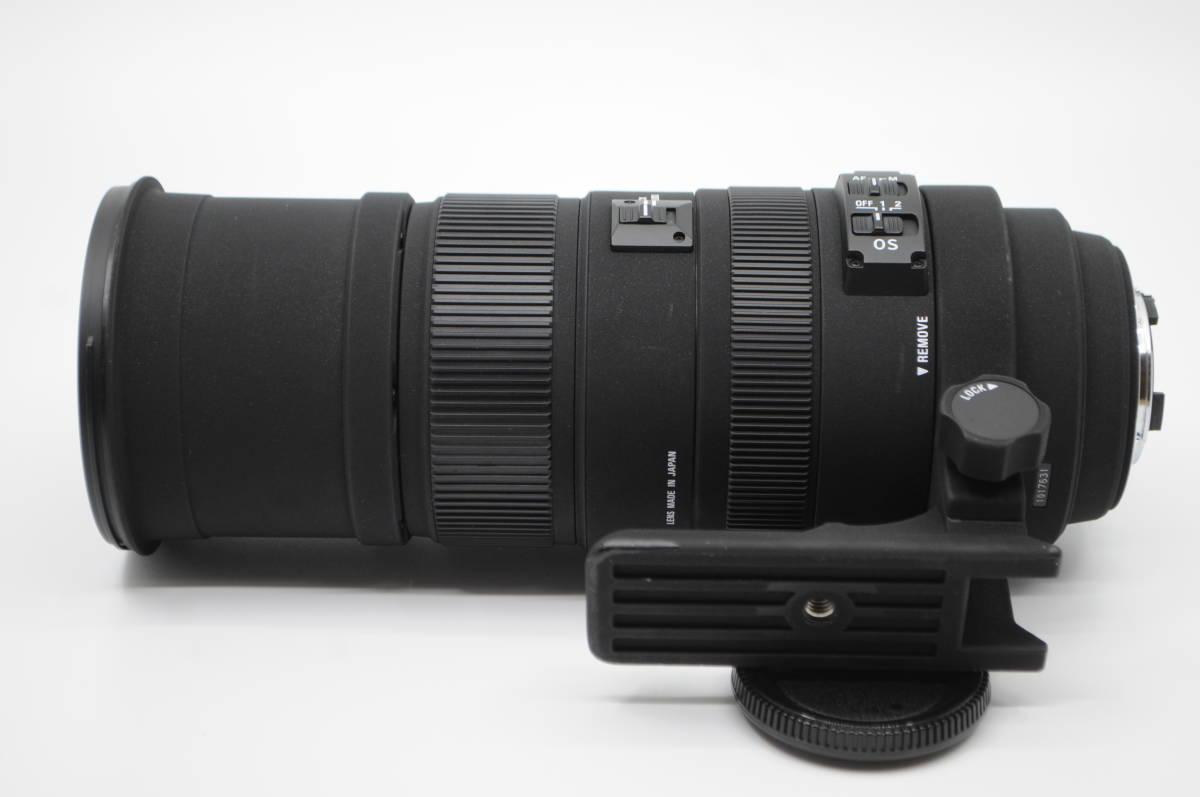 1円~★極上美品★ SIGMA シグマ APO 150-500mm F5-6.3 DG OS HSM 元箱 付属品一式 Nikon ニコン用_画像8