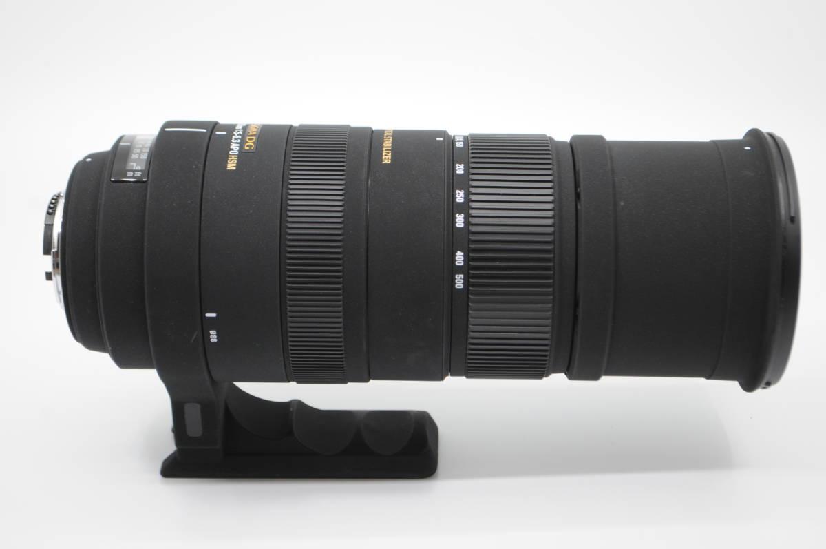 1円~★極上美品★ SIGMA シグマ APO 150-500mm F5-6.3 DG OS HSM 元箱 付属品一式 Nikon ニコン用_画像6